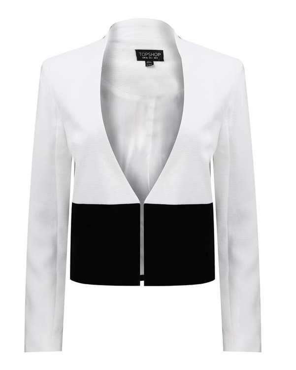 کت زنانه سفید مشکی TOP SHOP
