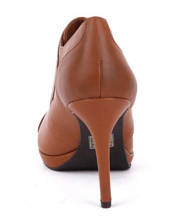 کفش زنانه پاشنه بلند قهوه ای CHARLES & KEITH