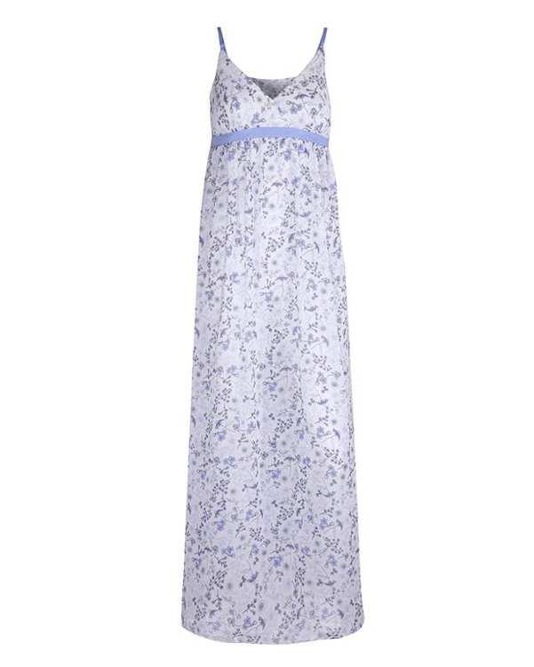 لباس خواب زنانه سفید آبی La Vie en Rose