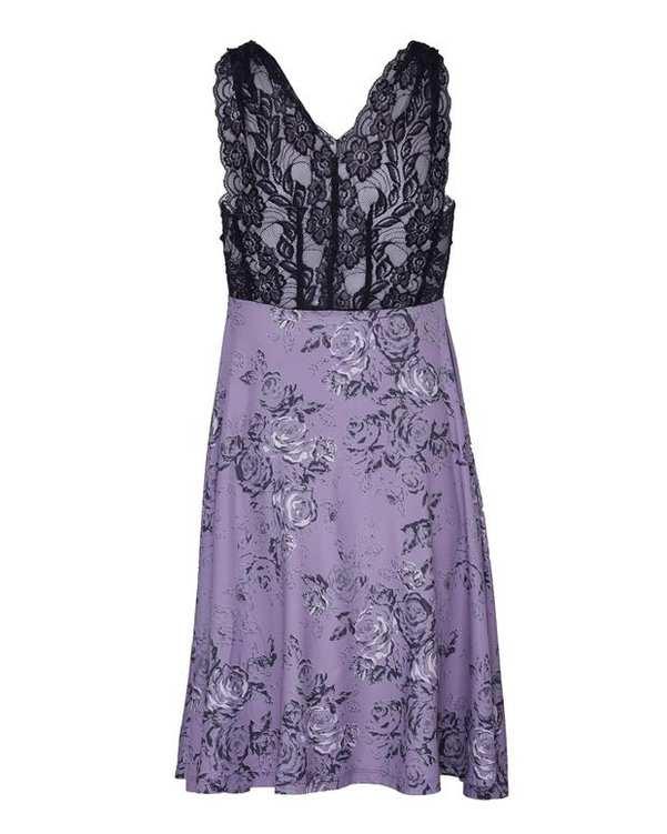 ست لباس خواب زنانه بنفش مشکی La Vie en Rose