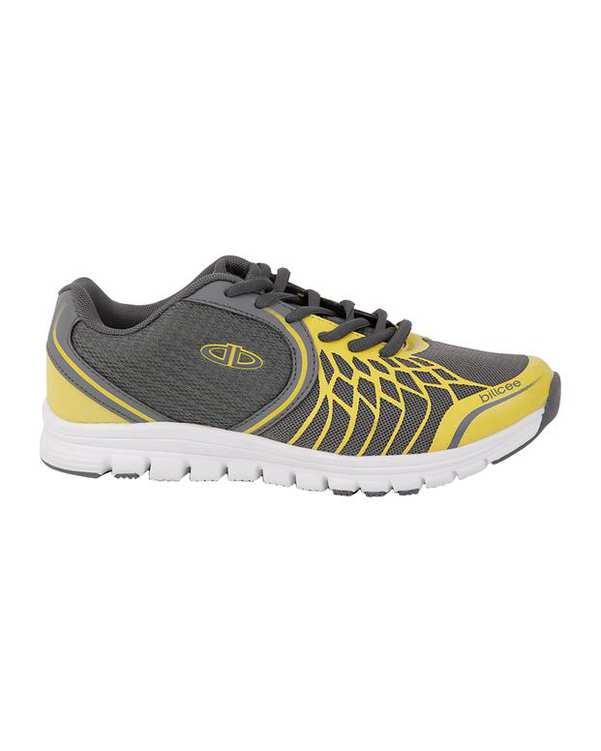 کفش رانينگ زنانه طوسی زرد Billcee LJ7240