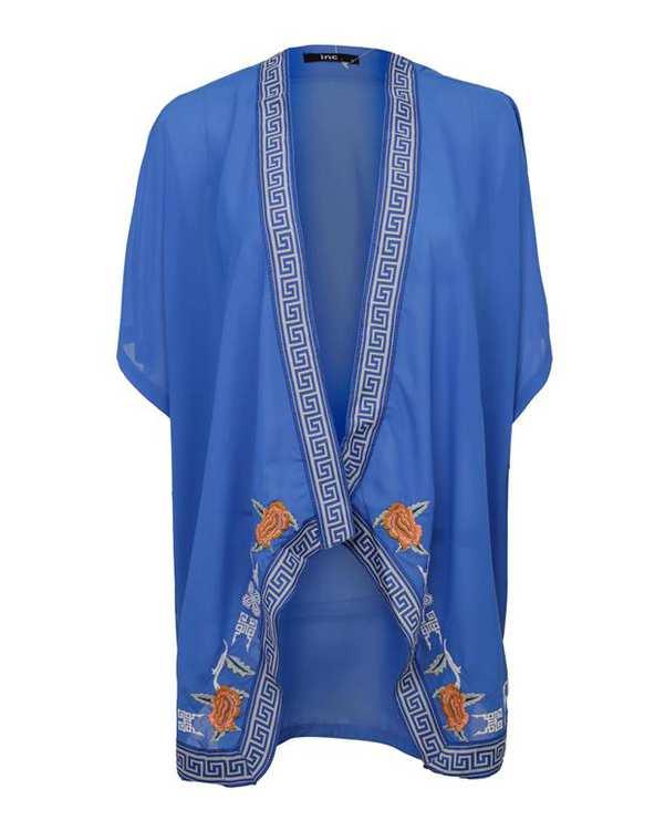رویه لباس زنانه آبی INC
