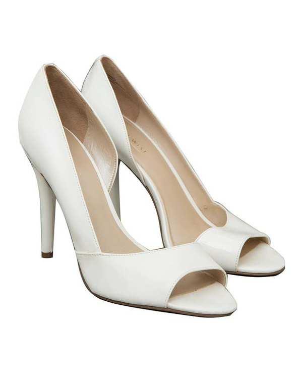 کفش رسمی ورنی زنانه سفید NINE WEST