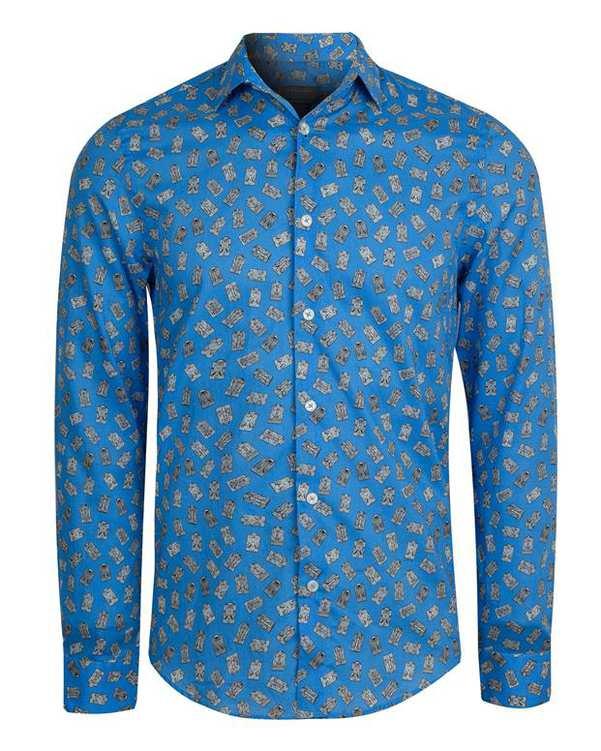پیراهن طرح پیراهن کوچک مردانه آبی Zara