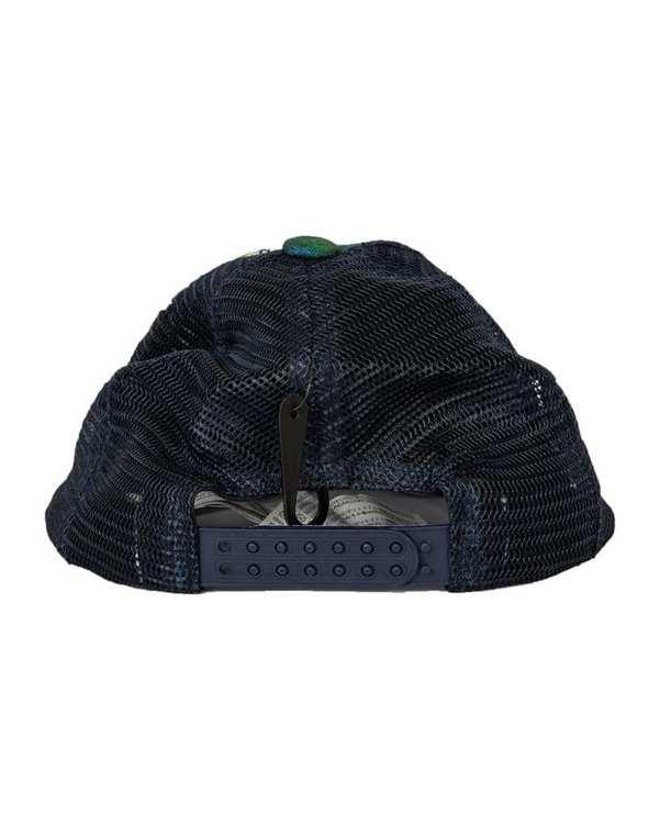 کلاه مردانه لبهدار طرح برگ سبز آبی زارا