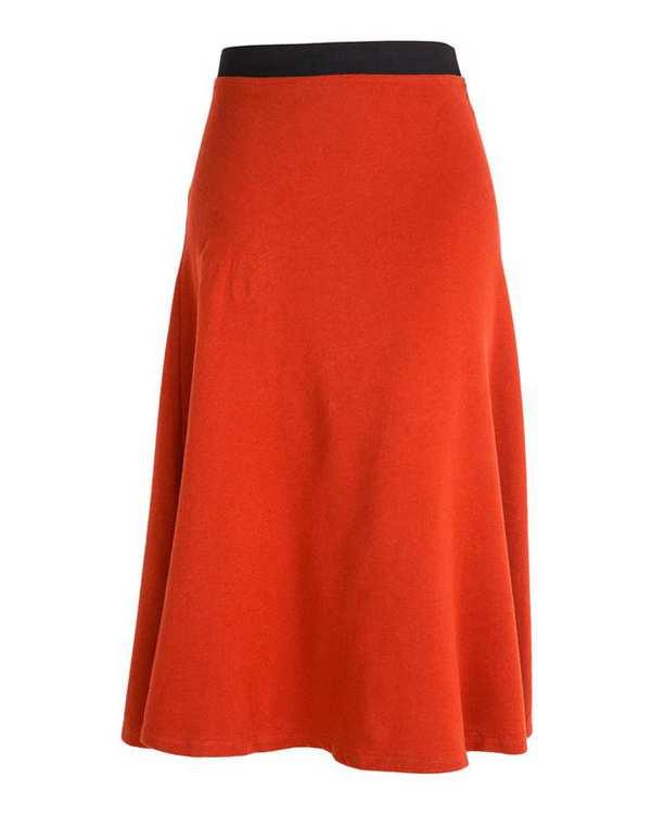 دامن بافت زنانه آجری Zara