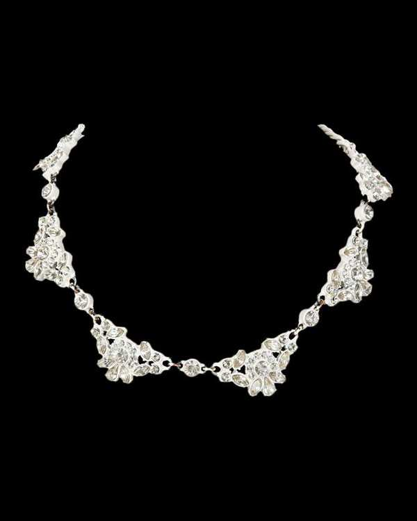 گردنبند فلزی طرح گل Zara