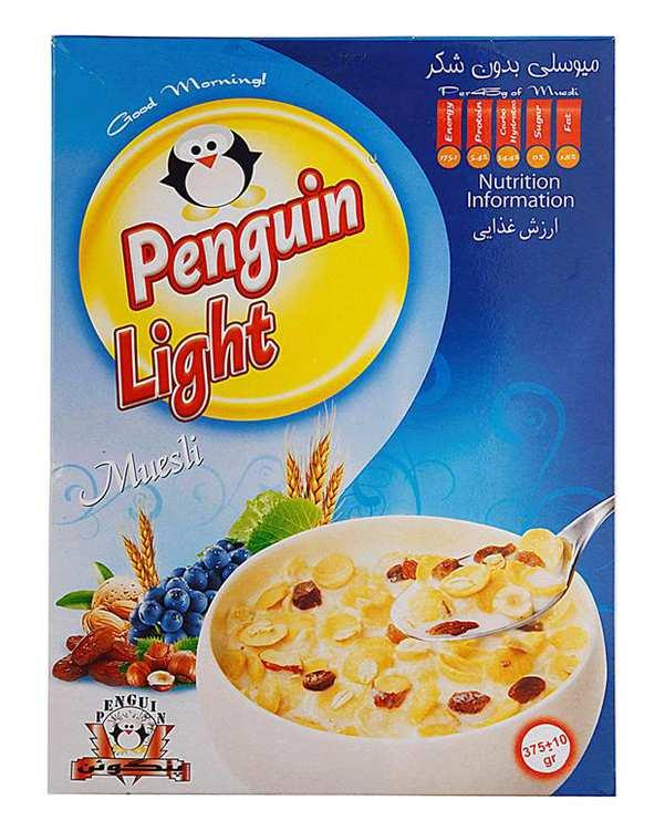 کورن فلکس میوسلی لایت 375 گرمی Penguin