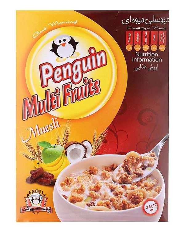 کورن فلکس میوسلی میوه ای 375 گرمی Penguin