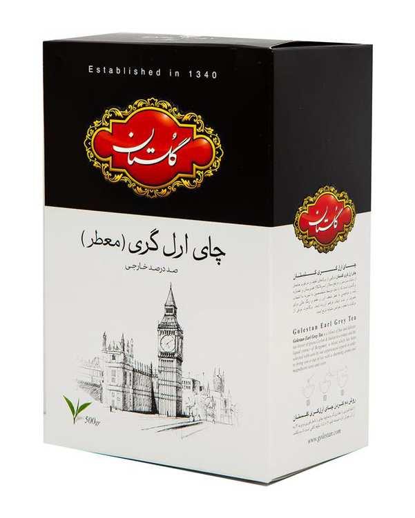 چای سیاه ارل گری 500 گرمی گلستان