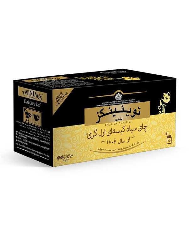 چای کیسه ای معطر توینینگز بسته 25 عددی