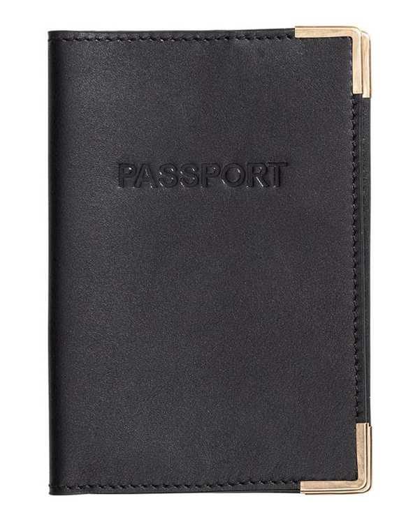 کیف پاسپورتی چرم زنانه مشکی H&M