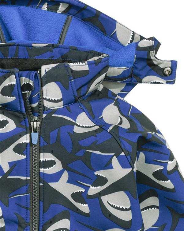کاپشن طرح کوسه پسرانه آبی مشکی H&M