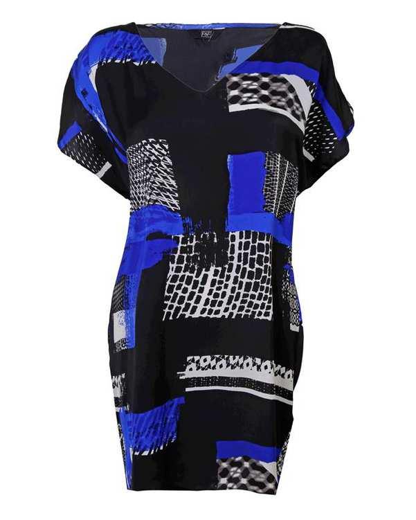پیراهن زنانه مشکی آبی F&F