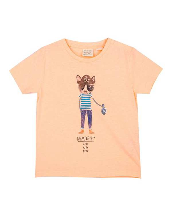 تی شرت نوزادی دخترانه گلبهی Zara