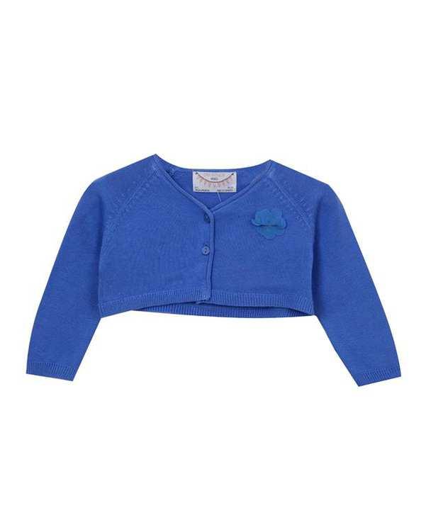 ژاکت نیم تنه نوزادی دخترانه آبی Zara
