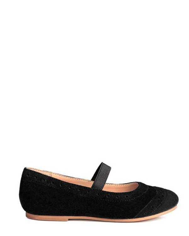 کفش تخت دخترانه مشکی H&M