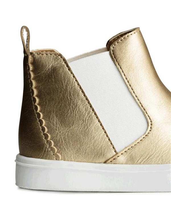 کفش ساقدار دخترانه طلایی روشن H&M