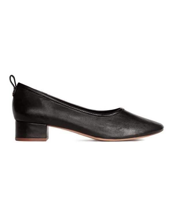 کفش رسمی چرم زنانه مشکی H&M