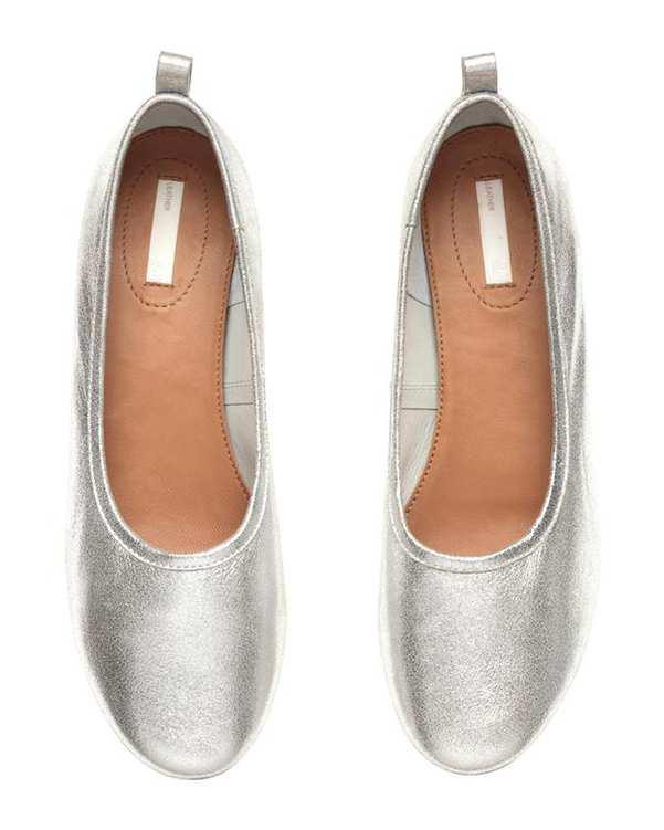 کفش رسمی چرم زنانه نقرهای H&M