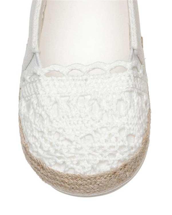 کفش دخترانه تخت سفید H&M