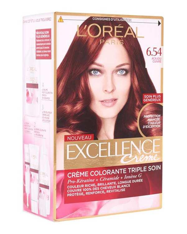 کیت رنگ مو Excellence ماهاگونی مسی 6.54 لورآل