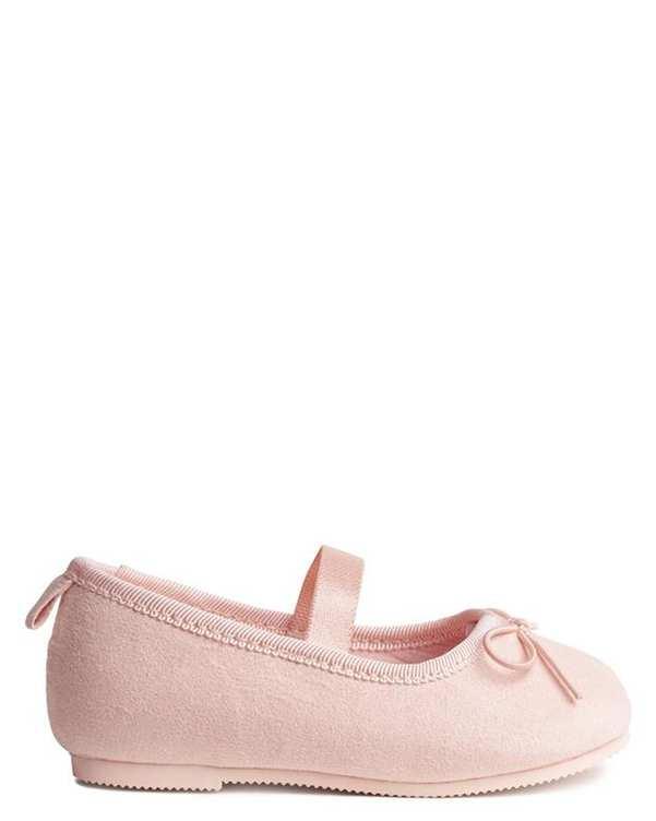 کفش نوزادی دخترانه تخت جیر صورتی H&M