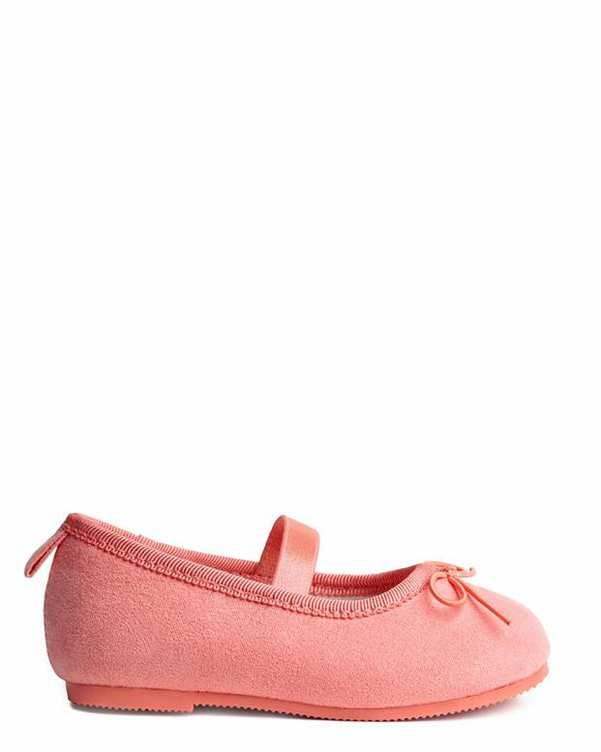 کفش دخترانه تخت جیر گلبهی H&M