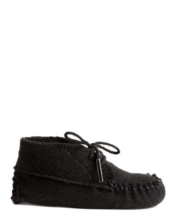 کفش تخت پسرانه نوزادی پشمی مشکی H&M