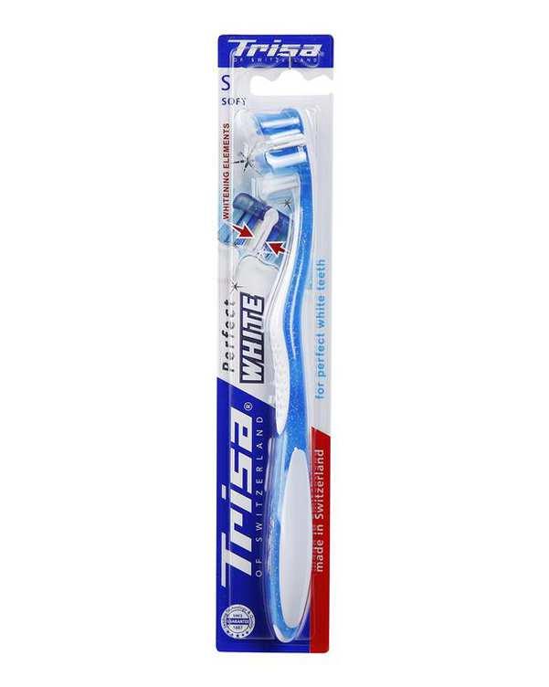 مسواک Prefect White با برس نرم آبی Trisa