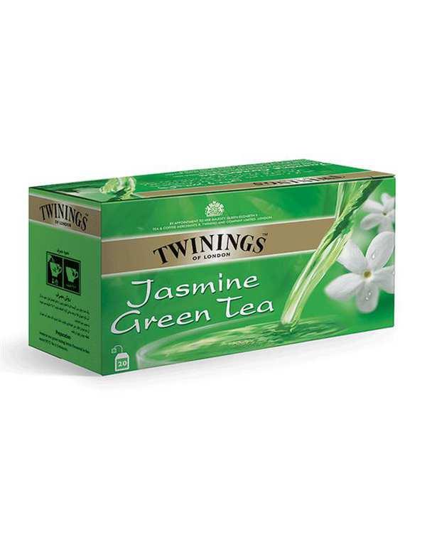 چای سبز کیسه ای باطعم یاس توینینگز بسته  20 عددی