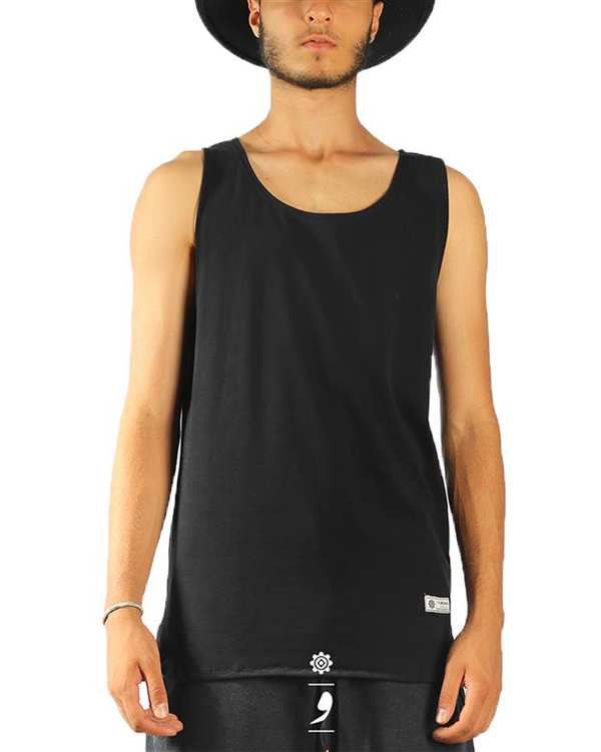 تی شرت لانگ آستین حلقه ای مردانه مشکی VIMANA