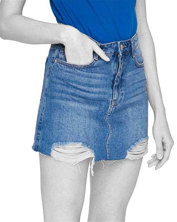 دامن زنانه جین آبی Tally Weijl