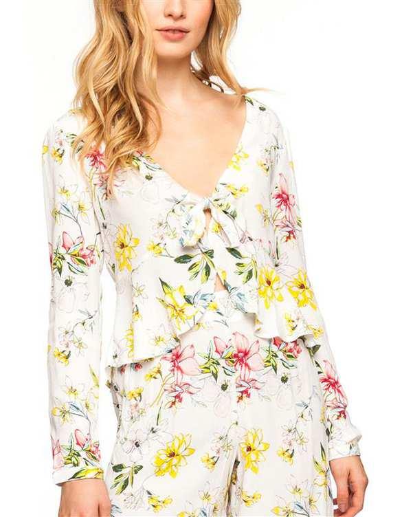 بلوز زنانه سفید گلدار Tally Weijl