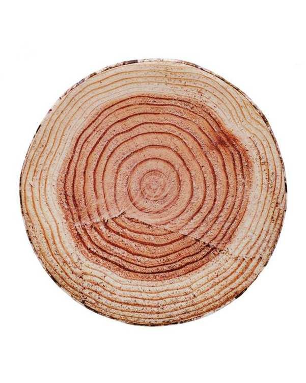 کوسن کرم قهوهای طرح تنه درخت Home&You