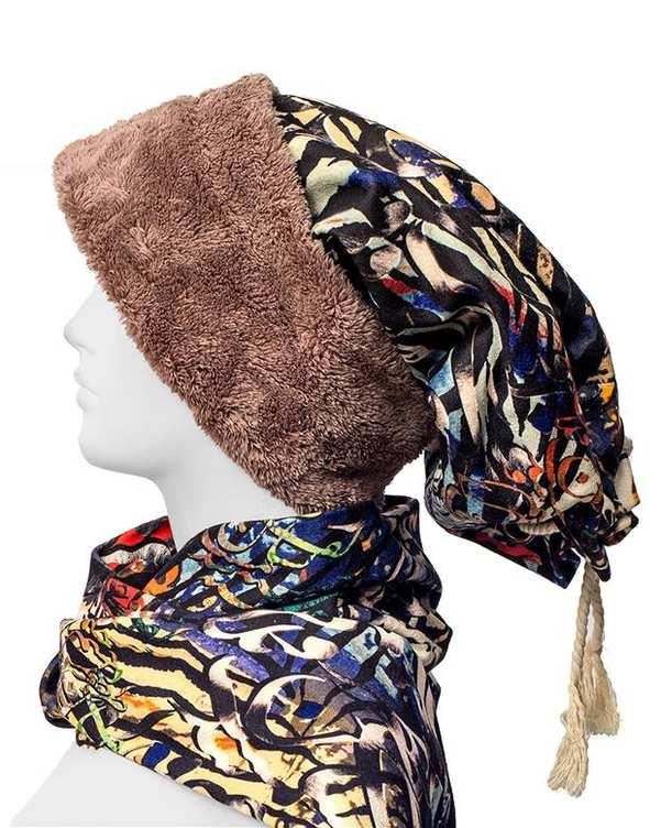 ست شال گردن و کلاه زنانه قبله
