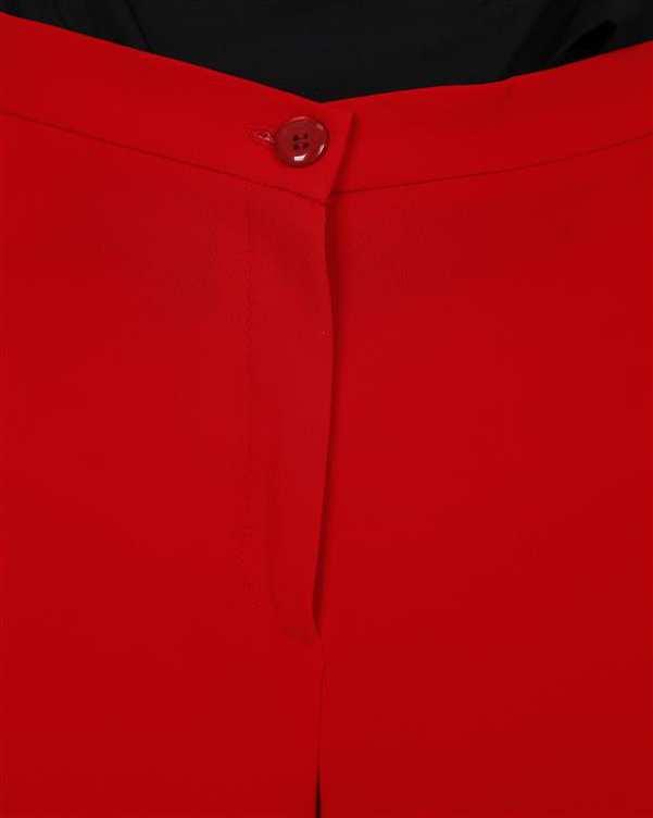شلوار زنانه پارچه ای قرمز Ziboo