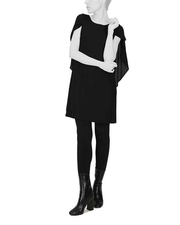 پیراهن زنانه کرپ مشکی Ziboo