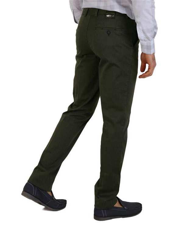 شلوار مردانه کتان سبز یشمی LRC
