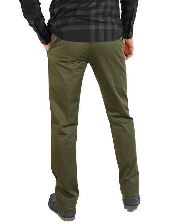شلوار مردانه کتان سبز زیتونی LRC