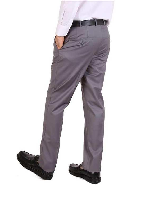 شلوار مردانه پارچه ای طوسی LRC