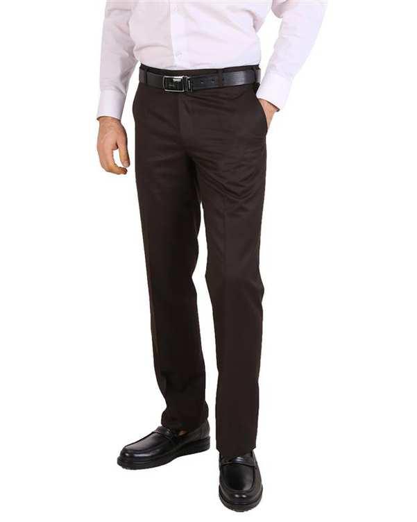 شلوار مردانه پارچه ای قهوه ای LRC