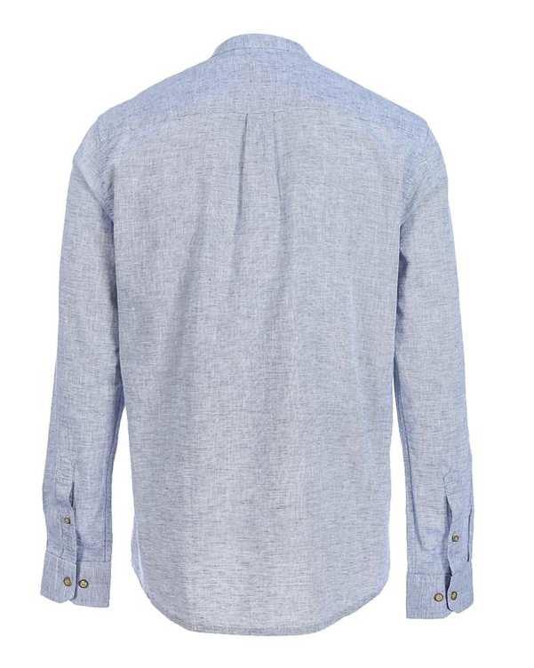 پیراهن مردانه نخی آبی سفید پاتن جامه