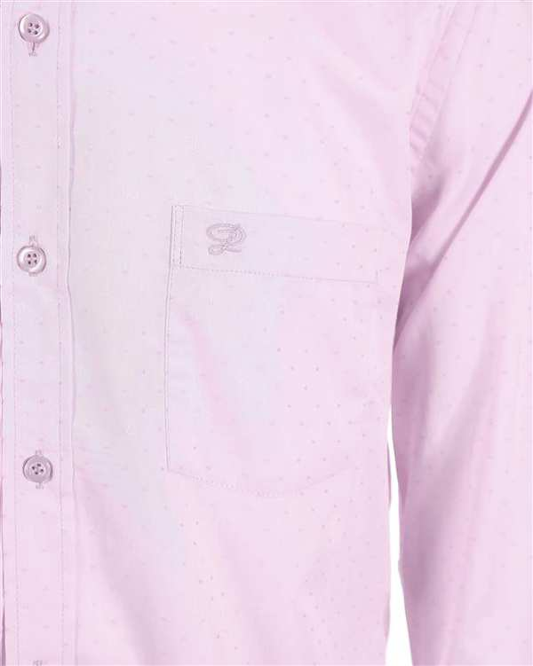 پیراهن مردانه صورتی روشن خال خالی پاتن جامه