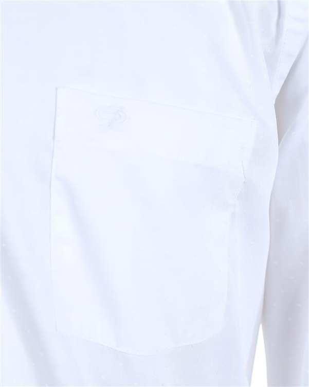 پیراهن مردانه سفید خال خالی پاتن جامه