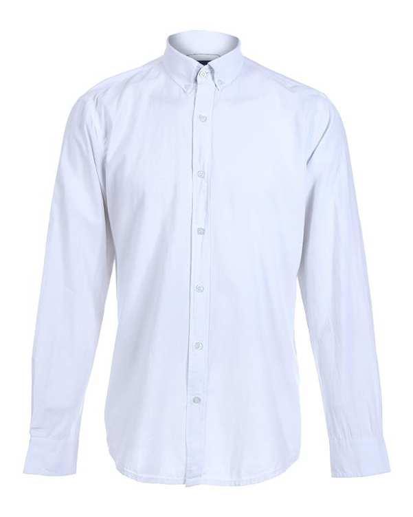 پیراهن مردانه نخی سفید پاتن جامه