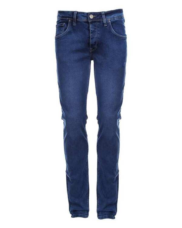 شلوار مردانه جین آبی پاتن جامه