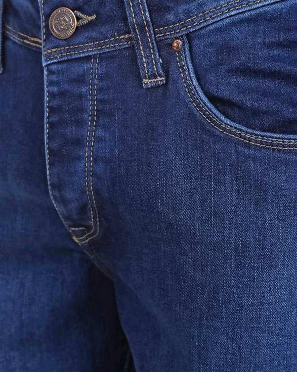 شلوار مردانه جین آبی تیره پاتن جامه
