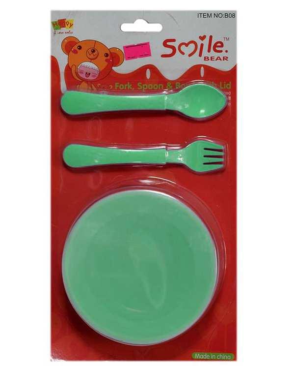 ظرف غذای کودک پلاستیکی سبز