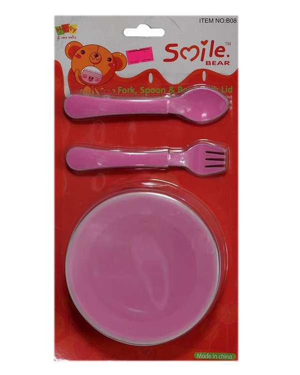 ظرف غذای کودک پلاستیکی صورتی